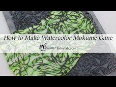 Polymer Clay Watercolor Mokume Gane Tutorial