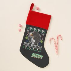 Personal Bernese Mountain Ugly Christmas Sweater Christmas Stocking - dog puppy dogs doggy pup hound love pet best friend