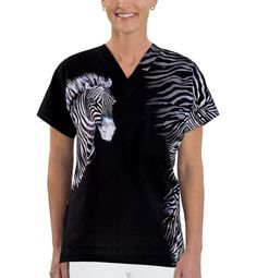 3a1191d782a Style #Z75ZIZ, ZiZi - Sue's Signature Placement Print Tops | Scrubs &  Uniforms. Vet Tech ...
