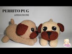 PERRITO PUG ADORABLE Amigurumi Tutorial - YouTube