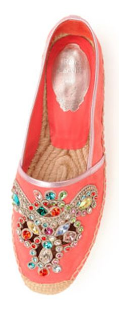 embellished suede #coral espadrille flats http://rstyle.me/n/haqhrr9te