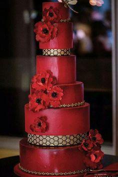 indian weddings inspirations red wedding cake repinned by indianweddingsmag indianweddingsmagcom weddingcake pinterest red wedding cakes