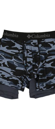 Columbia Performance Stretch Boxer Briefs 2-Pack (Camo 2/Ombre Blue) Men's Underwear - Columbia, Performance Stretch Boxer Briefs 2-Pack, RM8C208-460, Apparel Bottom Underwear, Underwear, Bottom, Apparel, Clothes Clothing, Gift, - Street Fashion And Style Ideas