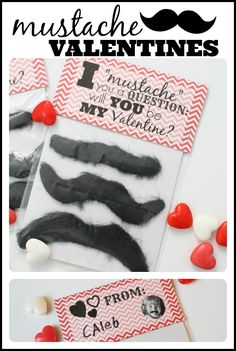 I Mustache You a Question:  Will You Be My Valentine?  (free printable and link to mustaches)
