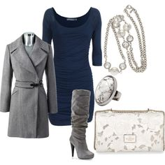 Winter dressy outfit...don't know where I'd wear it, but super cute!