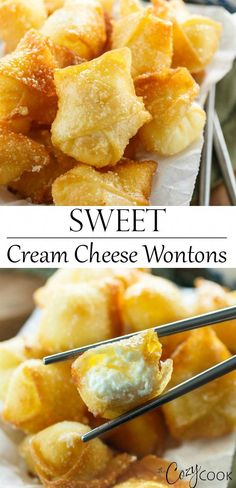Sweet Cream Cheese Wontons – You are in the right place about greek Food Recipes Here we offer you the most beautiful pictures about the Food Recipes low carb you are looking for. When you examine the Sweet Cream Cheese Wontons – part of the picture you … Gluten Free Chinese Food, Vegetarian Chinese Recipes, Homemade Chinese Food, Authentic Chinese Recipes, Chinese Chicken Recipes, Easy Chinese Recipes, Korean Chicken, Korean Beef, Chinese Desserts