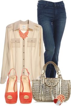 """""""Coral….."""" by carolindd2 on Polyvore"""