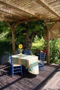 It may be winter, but soon it will be sunny again to Build a shade structure