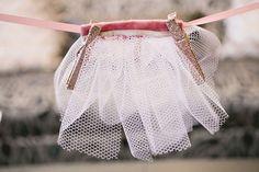 Little tutu garland for Baby Girl Shower