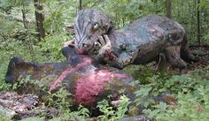 Michigan's Abandoned Dinosaur Amusement Park Is Way Creepy. Prehistoric Forest in Irish Hills, MI