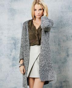 Укороченное пальто , схема вязания на сайте Люди Вяжут
