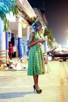 Meanwhile in downtown Cameroon...a fab wax print dress will do it for sure. #RollinLowolong