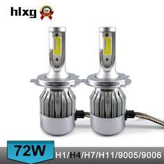 1 Set 72 W 7600LM COB Puce C6 LED Phare 36 W 3800LM H1 H3 H4 H7 H8 H9 H11 9005 9006 9012 9004 9007 H13 Voiture LED Ampoule de Phare