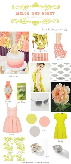 Deluxemodern Dear Miss Modern Design - melon and honey color palette