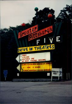 Greater Pittsburgh Drive-In in North Versailles, PA Retro Signage, Drive In Movie Theater, Driving Instructor, Outdoor Theater, Best Friend Wedding, Ohio River, Old Signs, Pittsburgh Pa, That One Friend