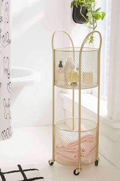 We're Eyeing These 10 Small Bathroom Storage Ideas in the Urban Outfitters' Home Catalog Bathroom Styling, Bathroom Storage, Bathroom Cabinets, Restroom Cabinets, Bathroom Organization, Modern Bathroom, Small Bathroom, Bathroom Ideas, Bathroom Cart