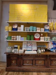 From Anthropologie: Enlarged shopping list highlights the tabletop section