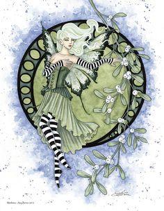 Amy Brown Mistletoe - Christmas Fairy