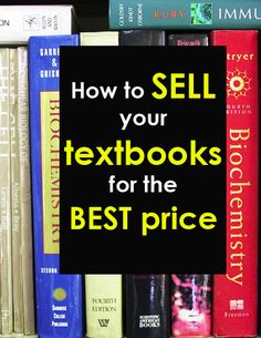 How to sell your textbooks for the best price and get some extra cash