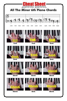 All The Minor 6th Piano Chords http://www.playpiano.com/101-tips/9-minor-6-chords.htm