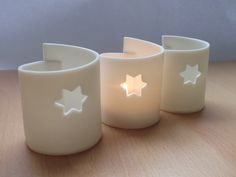 Porcelain tealight holder-Christmas,ceramics