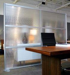 8u0027 Screen With Translucent Panels Office Room Dividers, Office Walls, Office  Workspace,