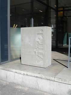 Vitra cast concrete signage/post box