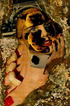 "Saatchi Art Artist CARMEN LUNA; Collage, ""11-Tesoros del COLLAGE."" #art"