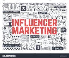 Influencer Marketing - Hand drawn vector illustration