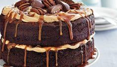 Chocolate Turtle Cake, drool! #Lovewithfood @Vera Kulikova Kulikova Kulikova Sweeney (Ladyandtheblog.com)