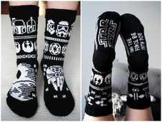 Knitted Star Wars socks