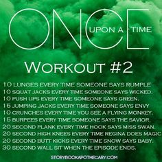 Once Upon A Time Season 3 TV Workout/ Repinning because I want to stay curled up watching this but I also really need/want to workout.