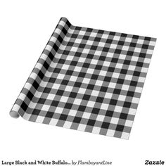 Shop Rustic Black and White Buffalo Check Wrapping Paper created by cardeddesigns. Personalize it with photos & text or purchase as is! Buffalo Plaid Wrapping Paper, White Wrapping Paper, Wrapping Paper Design, Gift Wrapping Paper, Custom Wrapping Paper, Wrapping Ideas, Merry Christmas, Plaid Christmas, Christmas Gifts