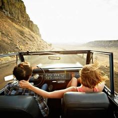 Bucket List for Couples: Go on a road trip together ... In a convertible!