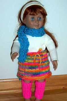American Girl DollSkirt Knitting Pattern