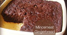 Cooking with K - Southern Kitchen Happenings: Mincemeat Gingerbread (recipe for both the jar mincemeat and the dry mincemeat) Christmas Cooking, Christmas Desserts, Christmas Foods, Xmas Food, Christmas Cakes, Holiday Foods, Christmas Holiday, Mincemeat Cake, Mincemeat Bars Recipe