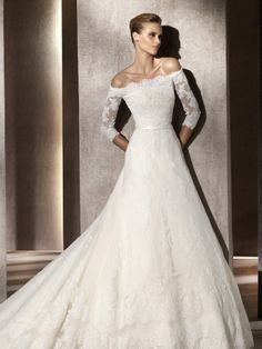 Wedding Dresses With Sleeves Off The Shouldertimeless Three Quarter Sleeves Lacewedding Dress With Off The Mtbznh