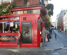 At Temple Bar, Dublin.