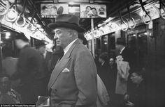 Underground: Even millionaire Bernard F. Gimbel, centre, knew that the subway was the quickest way around Manhattan, and rode it to save time