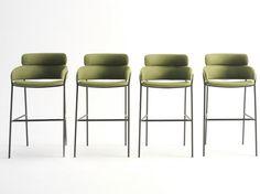 High fabric stool Strike Collection by Debi by Arrmet | design DebiLab