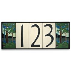 Decorative Tile House Numbers House Number Tiles  Arts And Crafts Decorative Tiles  Tiles