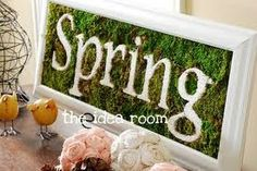 spring moss fireplace - Google Search