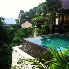 Rustic infinity pool at Karma Kandara, Bali Outdoor Spaces, Outdoor Living, Outdoor Pool, Outdoor Lounge, Container Pool, Container Homes, Beautiful Homes, Beautiful Places, Jm Barrie
