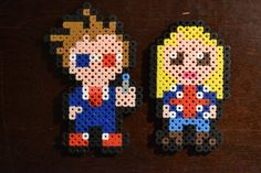 10th Doctor Who and Rose Magnet Set - Pixel Bead Art - FREE SHIPPING. $9.99, via Etsy.