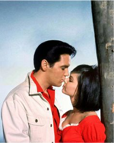 "Elvis Presley (1963) Photo shoot for ""Kissin Cousins"" (MGM) – with Yvonne Craig"