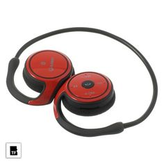 Red Suicen AX-698 Foldable Bluetooth 4.0 Sports Headphone, Support TF Card Play & FM Radio