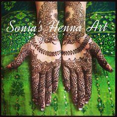 Sonia's Henna Art 2014 design  Creative henna design bridal Mehndi  Pakistani dulhan