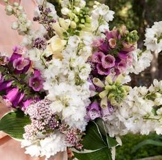 Moon Canyon Design Co.///Foxglove & Delphinium Hand Tie Bouquet