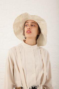 Reinhard Plank Viscose Straw Tom Hat in White | Oroboro Store | New York, NY