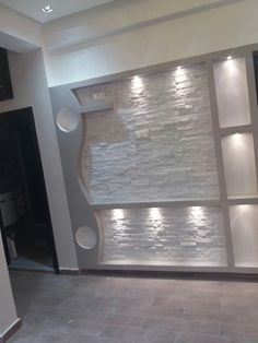 Lcd Wall Design, House Ceiling Design, Wall Mounted Folding Table, Single Floor House Design, Feature Wall Living Room, Diy Furniture Videos, Living Room Entertainment Center, Tv Wall Decor, Wooden Door Design
